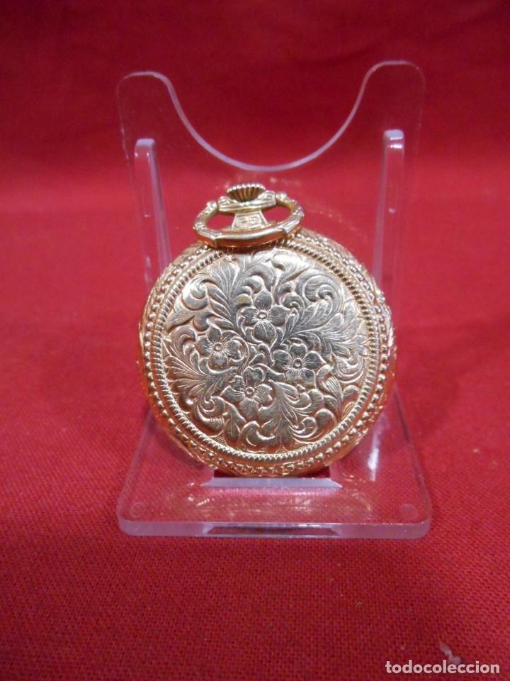 Relojes de bolsillo: RELOJ DE BOLSILLO MARCA - CRISTAL - DIAMETRO 35 MM - SWISS - - Foto 4 - 179176593