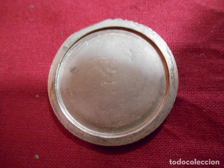 Relojes de bolsillo: RELOJ DE BOLSILLO MARCA - CRISTAL - DIAMETRO 35 MM - SWISS - - Foto 5 - 179176593