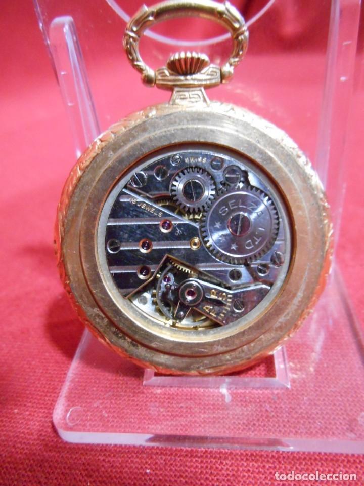 Relojes de bolsillo: RELOJ DE BOLSILLO MARCA - CRISTAL - DIAMETRO 35 MM - SWISS - - Foto 6 - 179176593