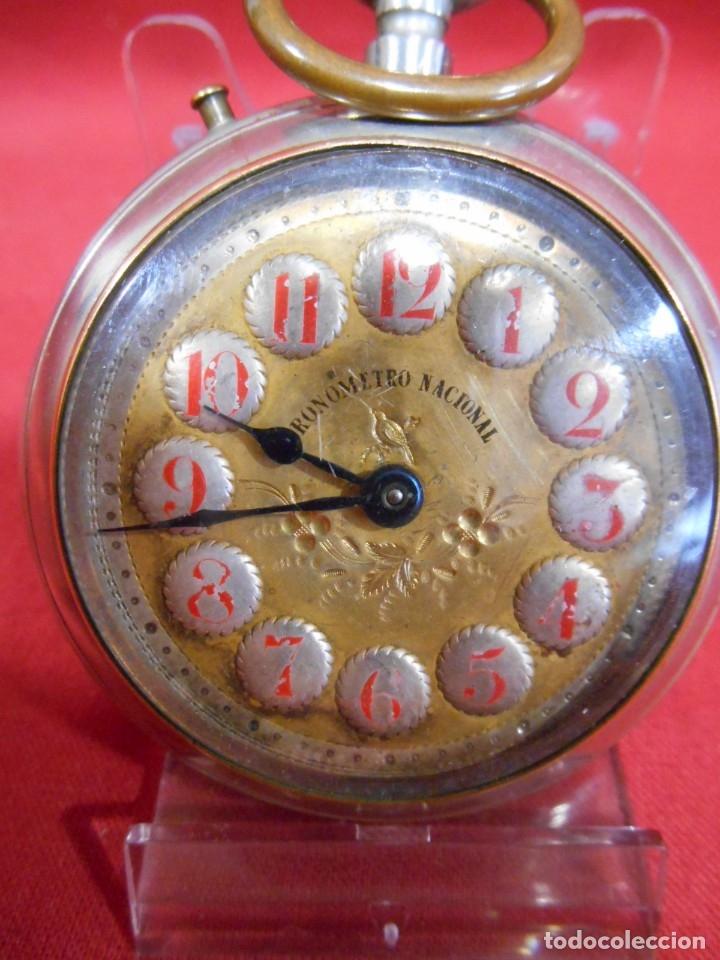 RELOJ DE BOLSILLO TIPO ROSKOPF MARCA - CRONOMETRO NACIONAL - DIAMETRO 57 MM - (Relojes - Bolsillo Carga Manual)