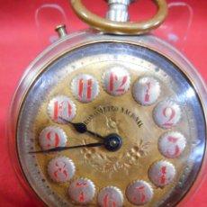 Relojes de bolsillo: RELOJ DE BOLSILLO TIPO ROSKOPF MARCA - CRONOMETRO NACIONAL - DIAMETRO 57 MM -. Lote 179177411