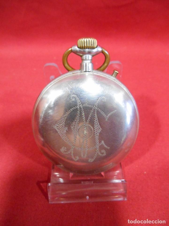 Relojes de bolsillo: RELOJ DE BOLSILLO TIPO ROSKOPF MARCA - CRONOMETRO NACIONAL - DIAMETRO 57 MM - - Foto 4 - 179177411