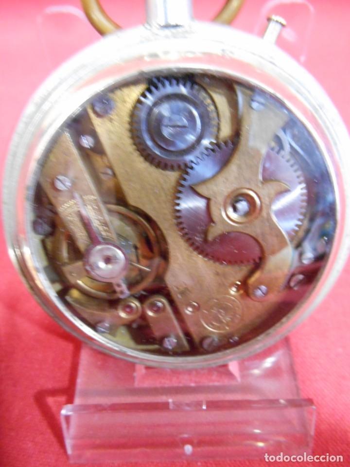 Relojes de bolsillo: RELOJ DE BOLSILLO TIPO ROSKOPF MARCA - CRONOMETRO NACIONAL - DIAMETRO 57 MM - - Foto 7 - 179177411