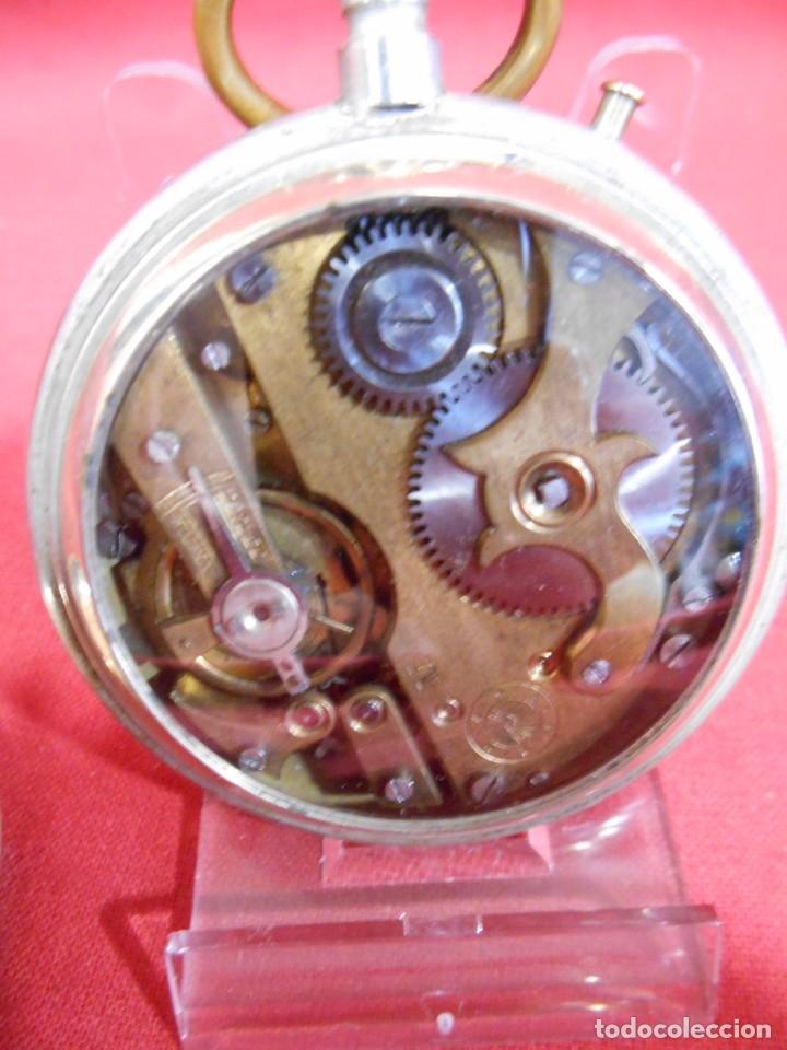 Relojes de bolsillo: RELOJ DE BOLSILLO TIPO ROSKOPF MARCA - CRONOMETRO NACIONAL - DIAMETRO 57 MM - - Foto 8 - 179177411