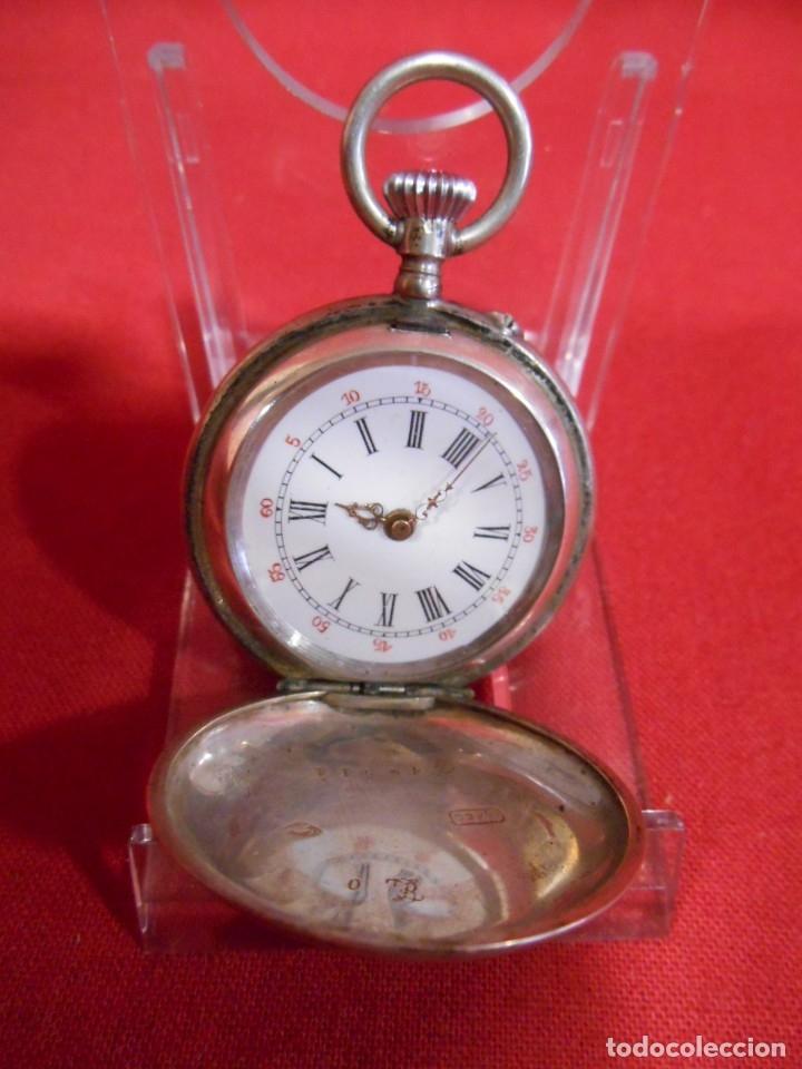 RELOJ DE BOLSILLO CAJA DE PLATA PUNZONADA (Relojes - Bolsillo Carga Manual)