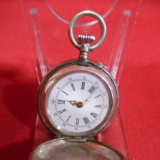 Relojes de bolsillo: RELOJ DE BOLSILLO CAJA DE PLATA PUNZONADA . Lote 179179133