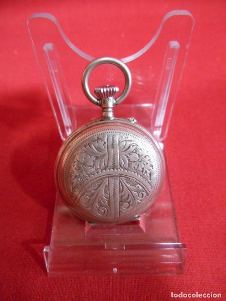 Relojes de bolsillo: RELOJ DE BOLSILLO CAJA DE PLATA PUNZONADA - Foto 2 - 179179133
