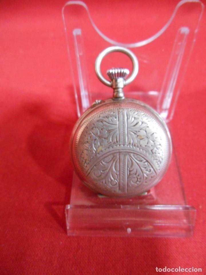 Relojes de bolsillo: RELOJ DE BOLSILLO CAJA DE PLATA PUNZONADA - Foto 3 - 179179133