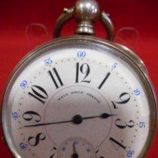 Relojes de bolsillo: RELOJ DE BOLSILLO DE PLATA MARCA - PAUL BOCH GENEVE - DIAMETRO 55 MM -. Lote 179180055