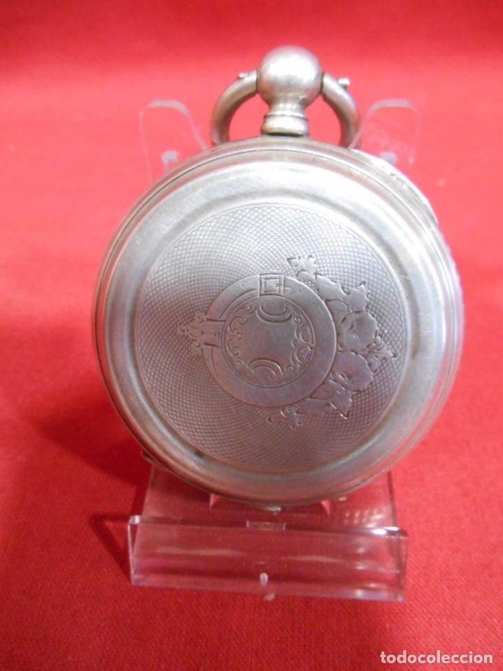 Relojes de bolsillo: RELOJ DE BOLSILLO DE PLATA MARCA - PAUL BOCH GENEVE - DIAMETRO 55 MM - - Foto 3 - 179180055