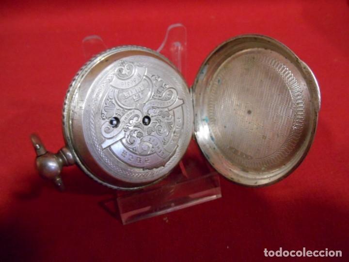 Relojes de bolsillo: RELOJ DE BOLSILLO DE PLATA MARCA - PAUL BOCH GENEVE - DIAMETRO 55 MM - - Foto 4 - 179180055