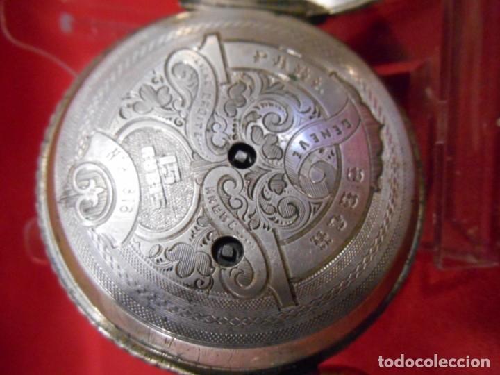 Relojes de bolsillo: RELOJ DE BOLSILLO DE PLATA MARCA - PAUL BOCH GENEVE - DIAMETRO 55 MM - - Foto 5 - 179180055