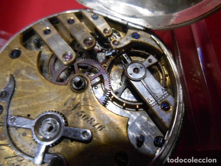 Relojes de bolsillo: RELOJ DE BOLSILLO DE PLATA MARCA - PAUL BOCH GENEVE - DIAMETRO 55 MM - - Foto 8 - 179180055