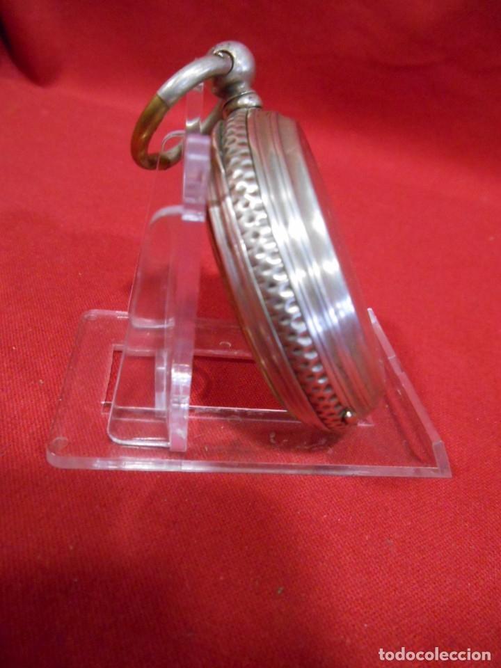 Relojes de bolsillo: RELOJ DE BOLSILLO DE PLATA MARCA - PAUL BOCH GENEVE - DIAMETRO 55 MM - - Foto 10 - 179180055