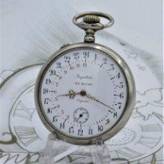 Relojes de bolsillo: MUY RARO RELOJ DE BOLSILLO 24 HORAS-FRANCIA-CIRCA 1900-1910-15 RUBÍES-FUNCIONANDO. Lote 179315178