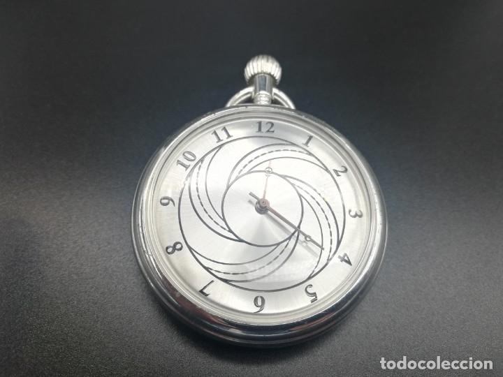 Relojes de bolsillo: RELOJ BOLSILLO CUERDA BAÑO DE PLATA FUNCIONA PERFECTAMENTE - Foto 4 - 97064683