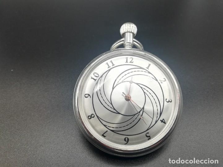Relojes de bolsillo: RELOJ BOLSILLO CUERDA BAÑO DE PLATA FUNCIONA PERFECTAMENTE - Foto 6 - 97064683