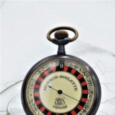 Relojes de bolsillo: RULETA-RELOJ DE BOLSILLO MONACO ROULETTE-CIRCA-1930-1950-FUNCIONANDO. Lote 179541846