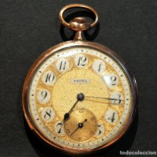 Relojes de bolsillo: ANTIGUO RELOJ DE BOLSILLO CARGA MANUAL MARCA PALMA PLAQUE DE ORO 18K. Lote 223858766