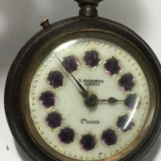 Relojes de bolsillo: RELOJ DE BOLSILLO L.REDONDO CUENCA 1 CLASE CON ESFERA ESPECIAL ESMALTE. Lote 180026595