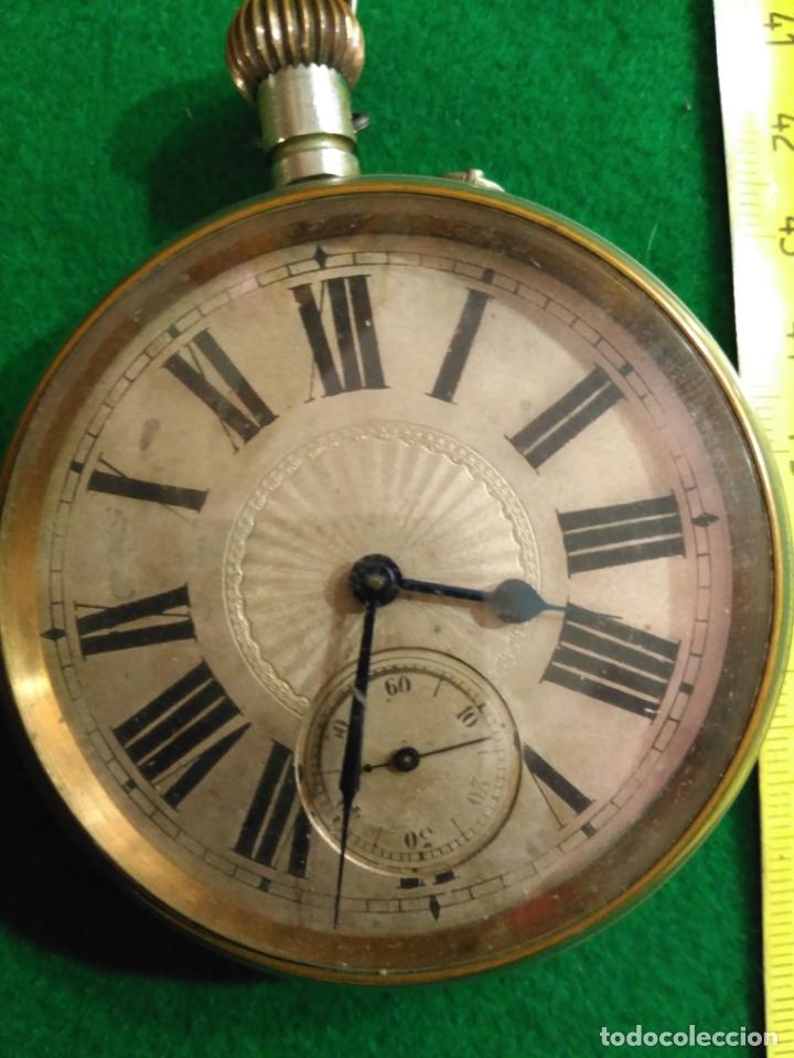 Relojes de bolsillo: ENORME RELOJ BOLSILLO GOLIAT FUNCIONANDO RAREZA MUY BUEN ESTADO VER FOTOS NÚMEROS ROMANOS pvp 450,00 - Foto 7 - 180042106