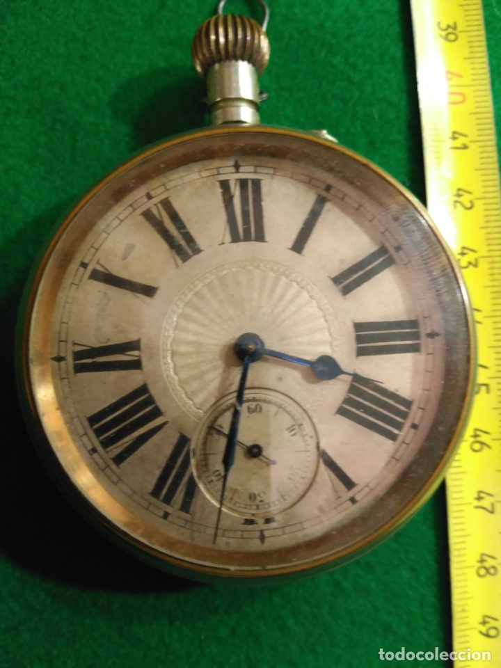 Relojes de bolsillo: ENORME RELOJ BOLSILLO GOLIAT FUNCIONANDO RAREZA MUY BUEN ESTADO VER FOTOS NÚMEROS ROMANOS pvp 450,00 - Foto 3 - 180042106