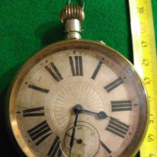 Relojes de bolsillo: ENORME RELOJ BOLSILLO GOLIAT FUNCIONANDO RAREZA MUY BUEN ESTADO VER FOTOS NÚMEROS ROMANOS. Lote 180042106