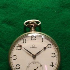 Relojes de bolsillo: ANTIGUO RELOJ DE BOLSILLO OMEGA ESFERA CERÁMICA SEGUNDERO PRECIOSO. Lote 180043155