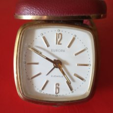 Relojes de bolsillo: RELOJ DESPERTADOR DE VIAJE EUROPA 2 JEWELS RELOJ DE BOLSILLO. Lote 180118583
