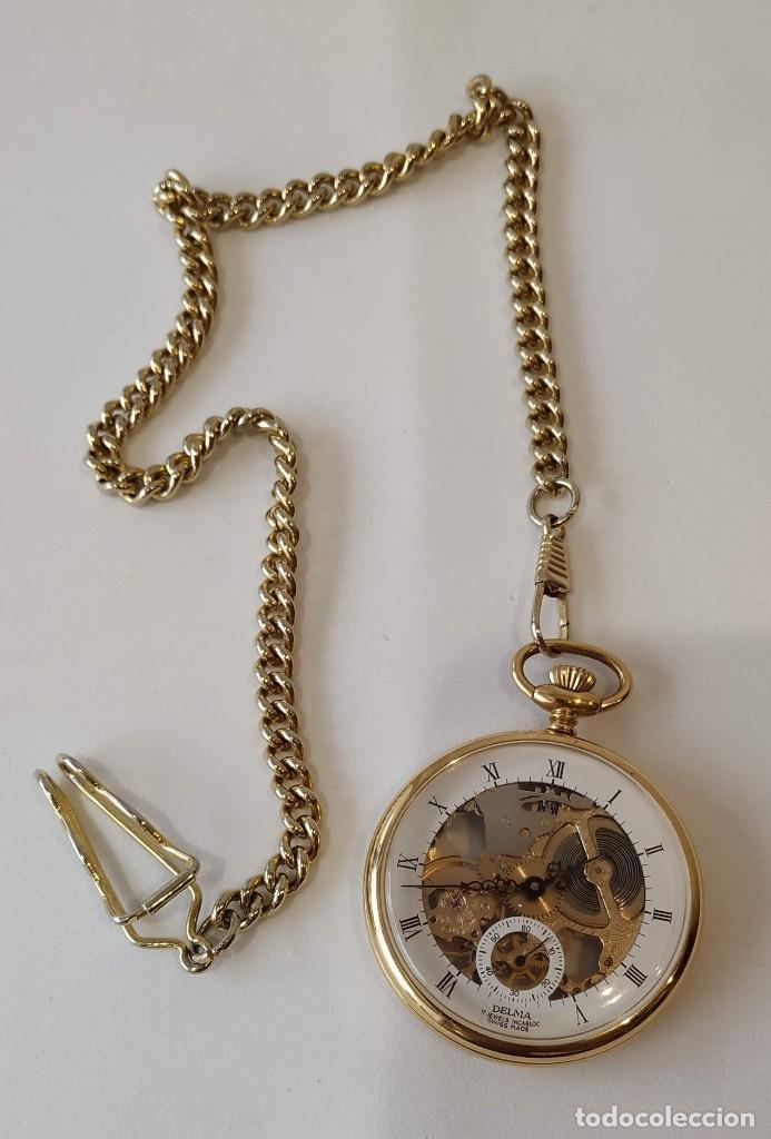 RELOJ DELMA DE BOLSILLO. RELOJ SUIZO MECÁNICO. SWISS POCKET WATCH. (Relojes - Bolsillo Carga Manual)