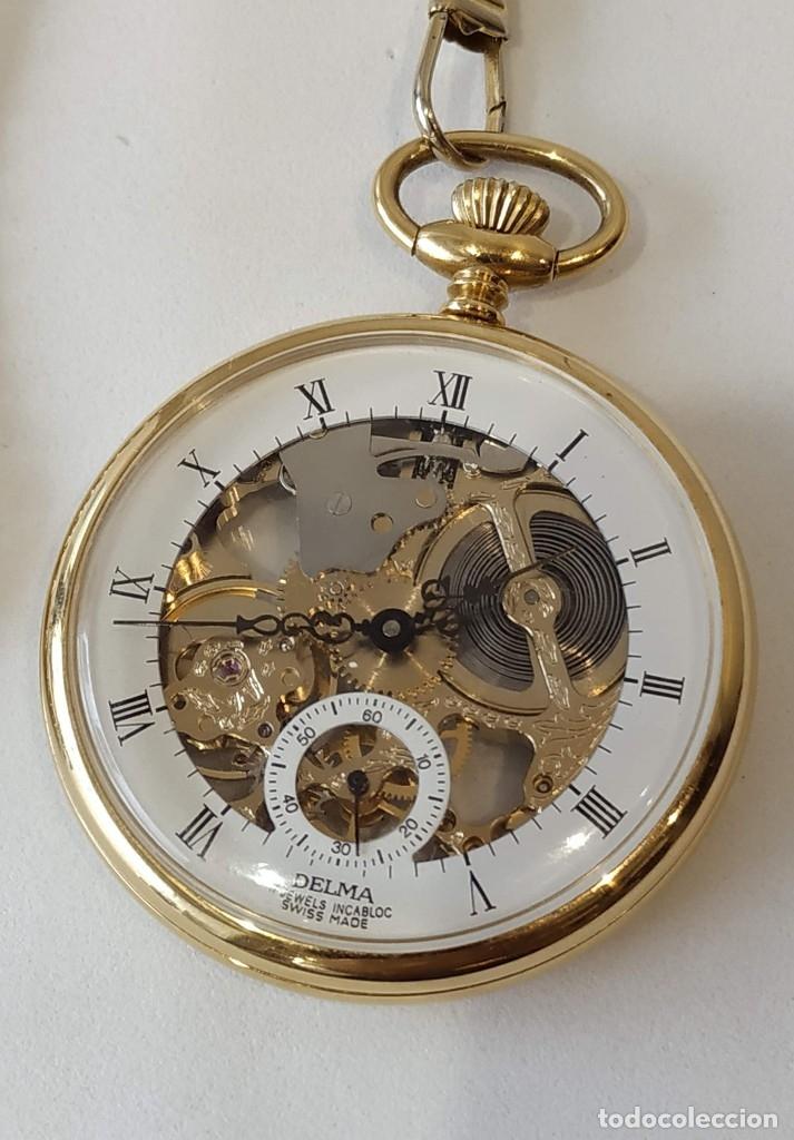 Relojes de bolsillo: Reloj Delma de bolsillo. Reloj suizo mecánico. Swiss pocket watch. - Foto 2 - 180125636