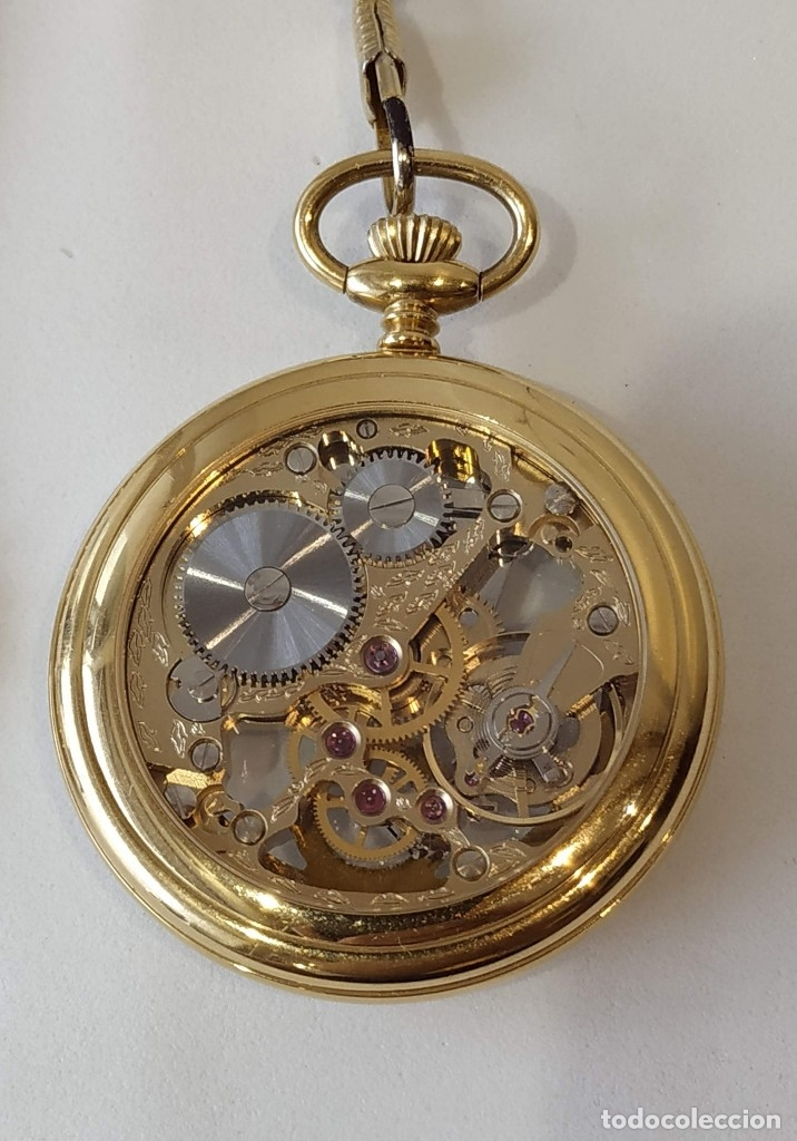 Relojes de bolsillo: Reloj Delma de bolsillo. Reloj suizo mecánico. Swiss pocket watch. - Foto 3 - 180125636