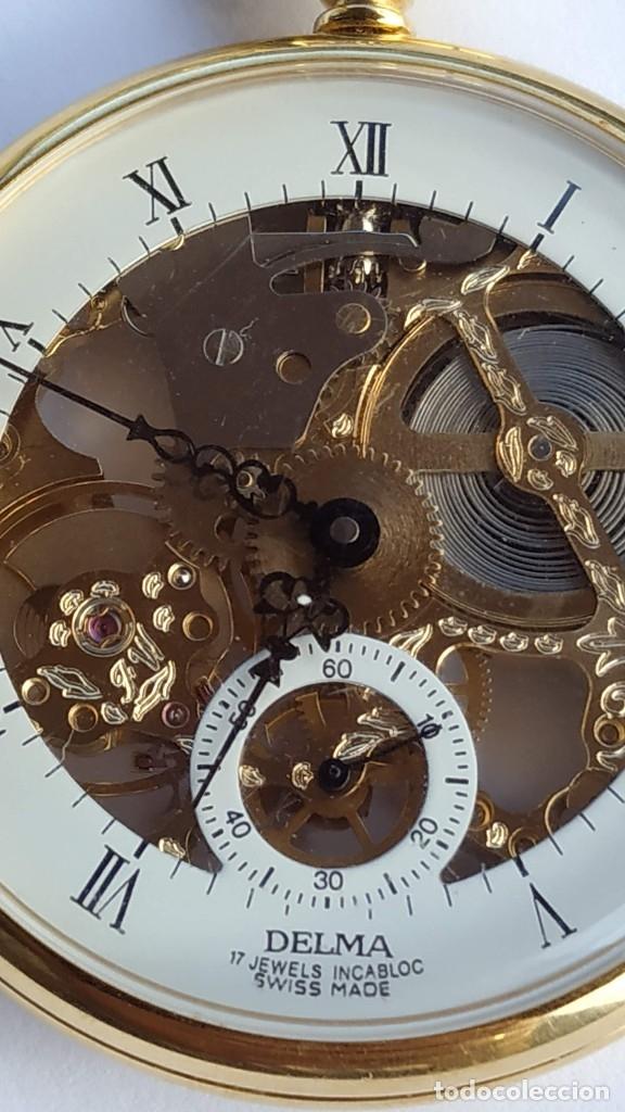 Relojes de bolsillo: Reloj Delma de bolsillo. Reloj suizo mecánico. Swiss pocket watch. - Foto 5 - 180125636