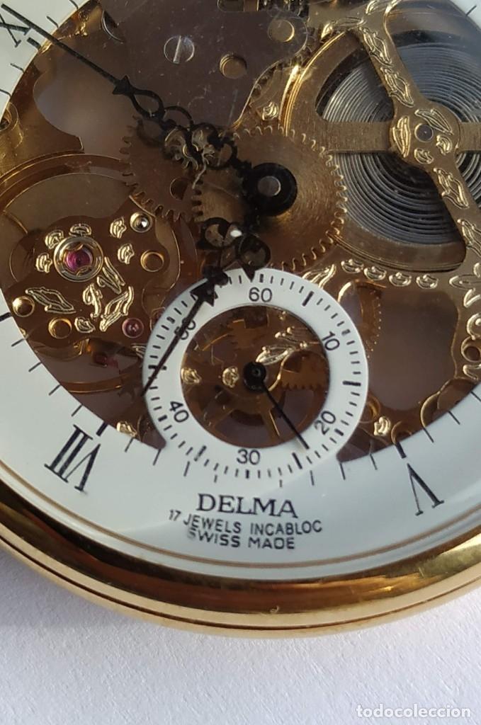 Relojes de bolsillo: Reloj Delma de bolsillo. Reloj suizo mecánico. Swiss pocket watch. - Foto 6 - 180125636