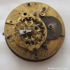 Relojes de bolsillo: MAQUINA Y ESFERA RELOJ CATALINO VERGE FUSEE ACHARD&FILS. Lote 180128838
