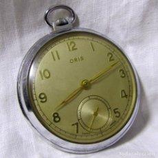 Relojes de bolsillo: RELOJ DE BOLSILLO DE CUERDA ORIS, NO FUNCIONA. Lote 180137487