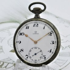 Relojes de bolsillo: OMEGA-RELOJ DE BOLSILLO-15 RUBÍES-2 TAPAS-CIRCA 1930-FUNCIONANDO. Lote 180160676