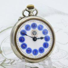 Relojes de bolsillo: ROSSKOPF & CO-RELOJ DE BOLSILLO SUIZO-11 RUBÍES-CIRCA 1922 -FUNCIONANDO. Lote 180172583