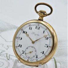 Relojes de bolsillo: LONGINES-PRECIOSO RELOJ DE BOLSILLO-2 TAPAS-CIRCA 1917-FUNCIONANDO. Lote 180190625