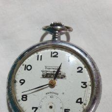 Relojes de bolsillo: RELOJ DE BOLSILLO MARCA THERMIDOR 17 RUBIS FUNCIONA. Lote 180233732