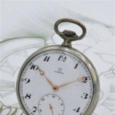 Relojes de bolsillo: OMEGA-FANTÁSTICO RELOJ DE BOLSILLO-2 TAPAS-CIRCA 1959-FUNCIONANDO. Lote 180235923