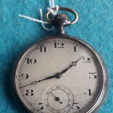 Relojes de bolsillo: RELOJ DE BOLSILLO ANTIGUO CON CAJA DE HIERRO.. Lote 180257827