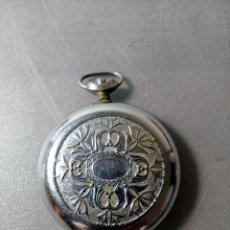 Relojes de bolsillo: CAJA COMPLETA PARA RELOJ DE BOLSILLO CON CRISTAL. Lote 180259993