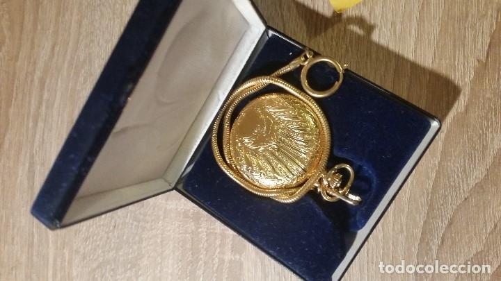 Relojes de bolsillo: EXPLENDIDO RELOGIO DE BOLSILLO EVER SWISSE QUARTZ TEM CALENDARIO LAKADO ORO - Foto 2 - 180428430