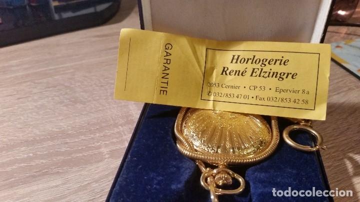 Relojes de bolsillo: EXPLENDIDO RELOGIO DE BOLSILLO EVER SWISSE QUARTZ TEM CALENDARIO LAKADO ORO - Foto 5 - 180428430