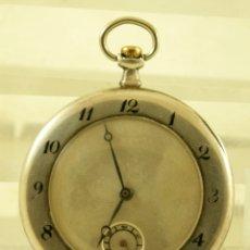 Relojes de bolsillo: RELOJ DE PLATA MECANICO AÑOS 20 CURIOSA CAJA FIRMADA JUVENIA FUNCIONA. Lote 180448131