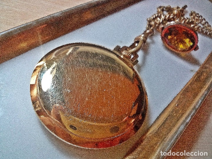 Relojes de bolsillo: RELOJ ORIS CON CITRINO YELOW. - Foto 4 - 177952053