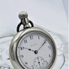 Relojes de bolsillo: ELGIN-PRECIOSO RELOJ DE BOLSILLO-USA-CIRCA 1910-FUNCIONANDO. Lote 181085926