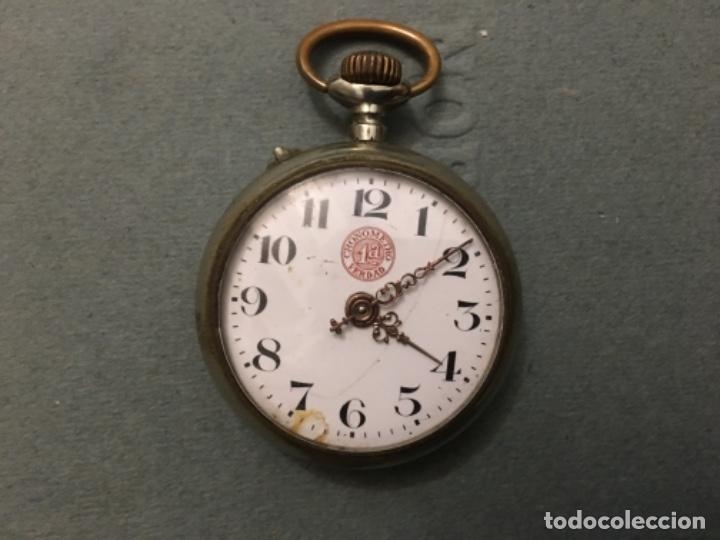 RELOJ CENTENARIO DE BOLSILLO - CRONÓMETRO 1A VERDAD - DE LA DÉCADA DE LOS AÑOS 20 (Relojes - Bolsillo Carga Manual)