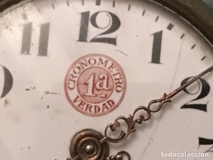 Relojes de bolsillo: Reloj centenario de bolsillo - Cronómetro 1a verdad - de la década de los años 20 - Foto 2 - 181138510